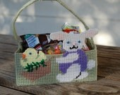 Plastic Canvas - Basket - Easter Friends