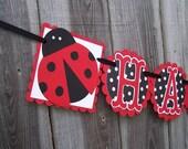 Ladybug Happy Birthday or Baby Shower Banner