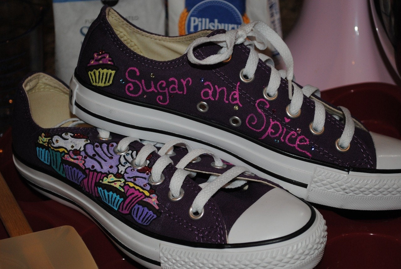 cupcake converse shoes