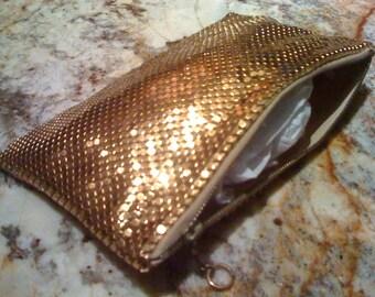 2Days Sale Sale STUNNING Vintage 50s Gold Mesh Evening Bag/ Made in WEST GERMANY