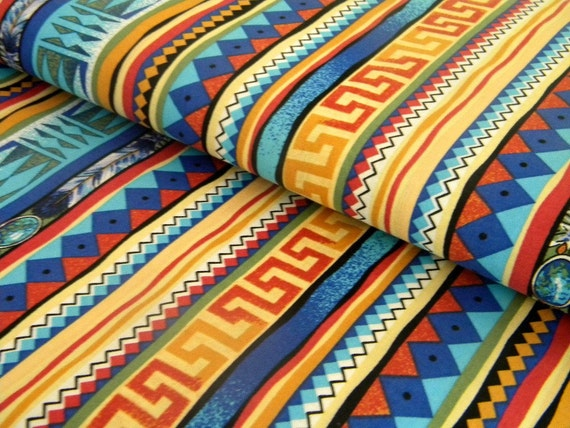 Tribal Elements fabric--by the yard--All Cotton--American Indian--last yardage available