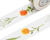 Flowers Washi Masking Tape - Wide MT ex 30mm x 15m