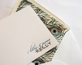 Personalized Stationery - Custom Letterpress - 2color - fifty cards