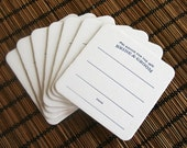 Letterpress Coaster - Bride and Groom wedding advice - Bulk 50