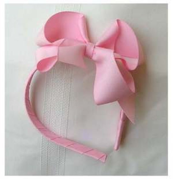Reserved Listing - Set of 6 Headbands w/ Extra Large 6 Inch Hair Bows  PIC your colors - GREAT for Spring or Summer