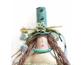 Folk Art Doll in a Tall Hat