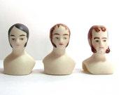 Men porcelain doll heads