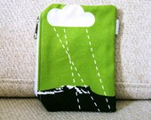 Green Mountains and Cloud : Coin Pouch