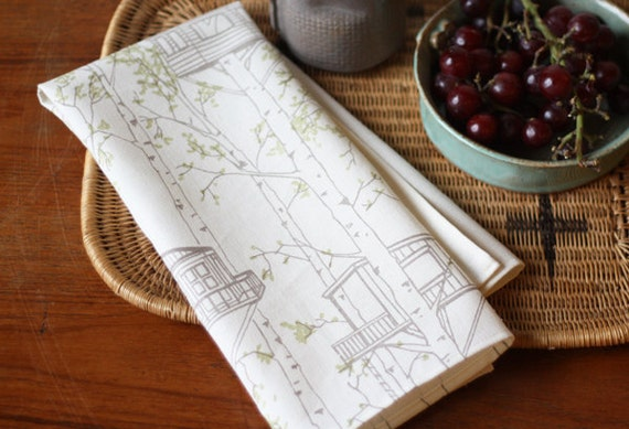 Tree House Tea Towel