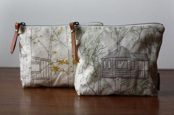 Yellow Tree House Pouch