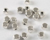 150pcs dark silver tone 4mm Cube spacer beads h3721