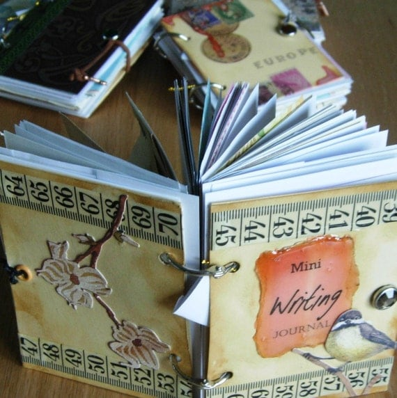 Writers, Pocket Writing Prompt Journal with Ephemera