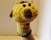 Organic Giraffe Washmitt or Puppet Crochet Pattern PDF 437