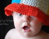 156 PDF BeachBall Sun Hat Infants to Adults Crochet Pattern