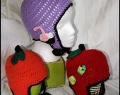 3 Fun Versions of an EarFlap Hat for Infants to Adult sizes PDF 282