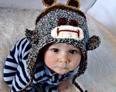 Bear Sock Monkey Hat Crochet Pattern pdf 529