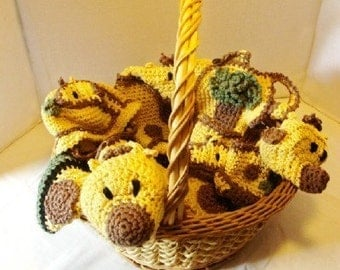 Jeanie the Giraffe Baby Shower Organic Cotton Gift Set to Crochet Patterns pdf425