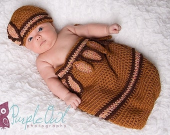 Cocoon and Beanie PDF Crochet Pattern 244 Great for Photo Props