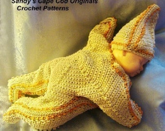 Starfish Bunting and Hat Crochet Pattern PDF 182 Great for Photo Prop Pictures