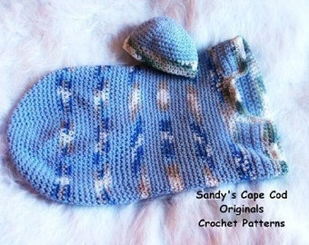 Simple Organic  Cotton Cocoon and Beanie Crochet Pattern pdf 375