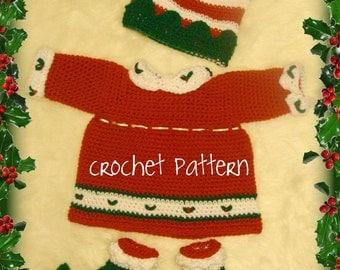 Crochet Elf Dress,Hat,Elf Slippers Crochet Digital Pattern pdf506