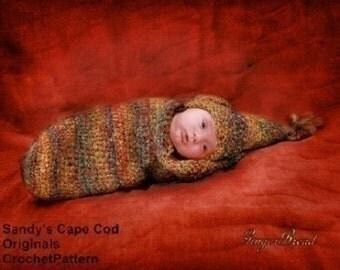 Elf Cocoon Crochet Pattern and Elf Hat Pdf 202
