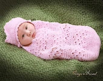Preemie Cocoon Crochet Pattern Precious Angel cocoon and