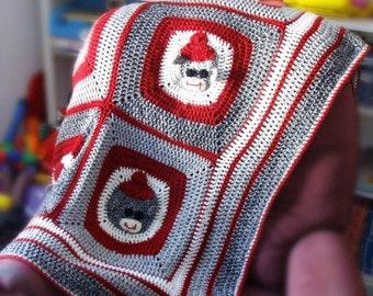 Sock Monkey Afghan Crochet Pattern PDF 524