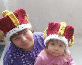 Crown Hat Crochet Pattern pdf531 Infants to Adults Sizes