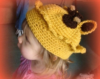Giraffe Crown Beanie Crochet Pattern PDF 150 with instructional videos included