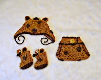 Giraffe Baby Set  Crochet Pattern PDF 567