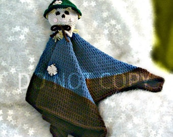 Scarecrow Toy Blankie Lovie Crochet Pattern PDF 579