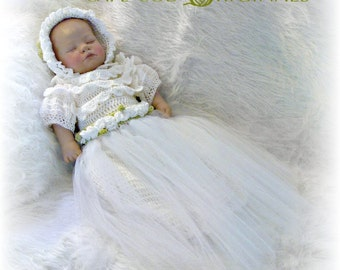 Christening Gown Crochet Pattern PDF 620