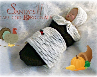 Pilgrim Baby Girl Cocoon and Bonnet Crochet Pattern pdf 629