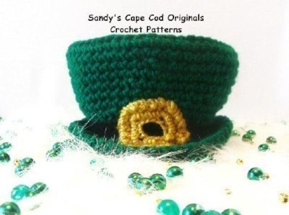 Crochet Baby Leprechaun Hat Pattern : Little Baby Leprechaun Hat PDF Crochet Pattern 358
