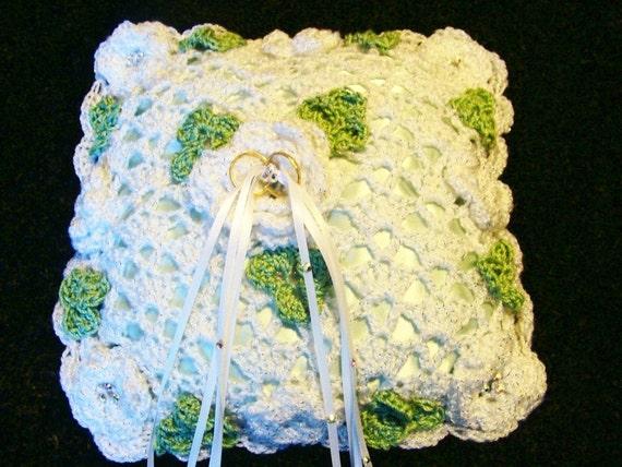 Julies Irish Wedding Ring Bearer Pillow Croc Het Pattern
