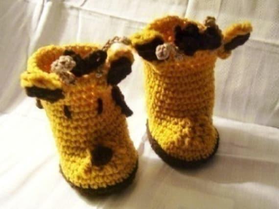 Giraffe Baby Booties Crochet Pattern pdf 269