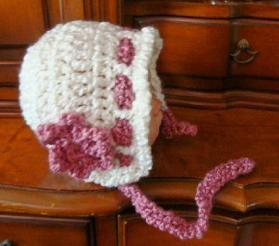 Quick and Easy Baby Bonnet Crochet Pattern PDF 440