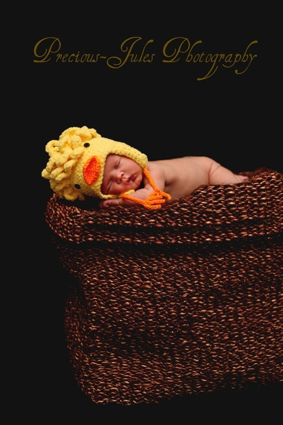 Baby Chick Hat Crochet Pattern pdf544 infant to adult sizes to make
