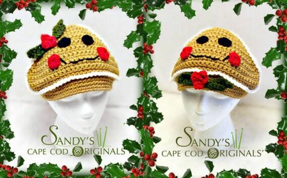 Gingerbread Hat Crochet Pattern PDF 646