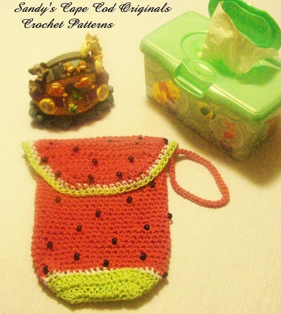 169 PDF Watermelon Diaper Clutch Crochet Pattern