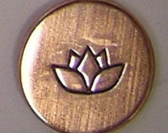 Metal Steel Stamps LOTUS Design Stamp Jewelry Stamping - The Urban Beader