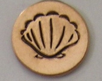 Metal Steel Stamps SHELL 6mm Design Stamp Jewelry Stamping - The Urban Beader