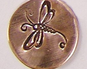 Metal Steel Stamps DRAGONFLY Design Stamp Jewelry Stamping - The Urban Beader