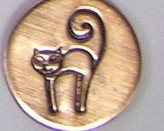 CAT Metal Design Stamp 6mm - Metal jewelry Stamping Tool The Urban Beader