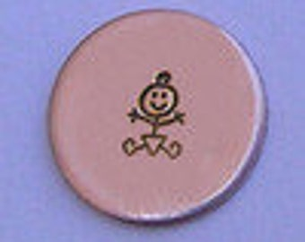 Metal Steel Stamps Stick Figure Baby Design/Decorative Stamp for Metal Jewelry Stamping The Urban Beader