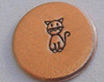 Metal Steel Stamps Stick Figure Cat 4mm Design/Decorative Stamp for Metal Jewelry Stamping The Urban Beader