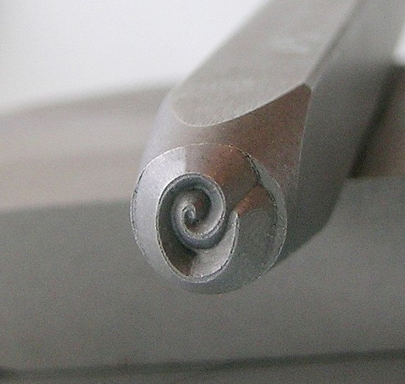 Metal Steel Stamps OBLONG SPIRAL 3mm Design Stamp Jewelry Stamping - The Urban Beader