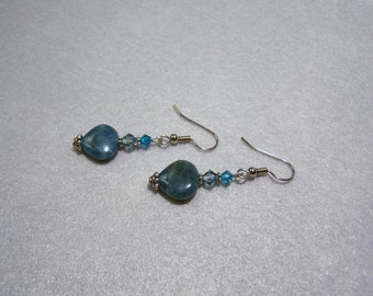 Healing Amazonite Heart Earrings