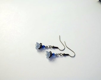 Delicate Waterfall Flower Petal Earrings